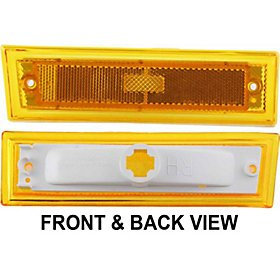 CHEVY SUBURBAN 81-91 FRONT SIDE MARKER LAMP RIGHT SIDE, Lens and Housing