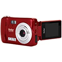 Vivitar VX018-STRAW 10 Digital Camera with 1.8-Inch TFT LCD (Red)