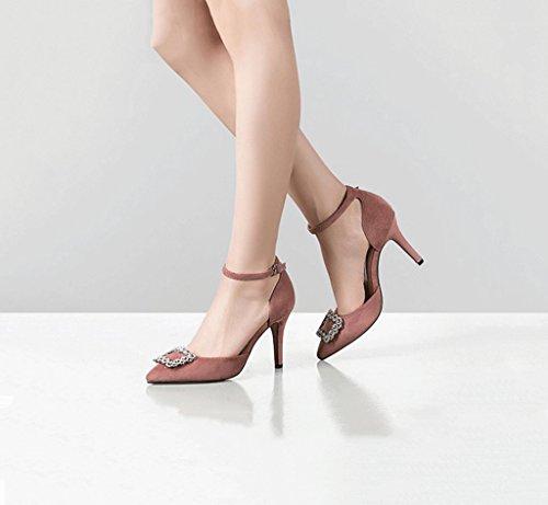 Alti Tacchi Comodi Stiletto Estate Punte Sandali Di Rosa Dimensioni Superficiale 38 colore Sognare Moda Bocca Femminili Tacco Retrò Elegante 7x8z6wB6qH