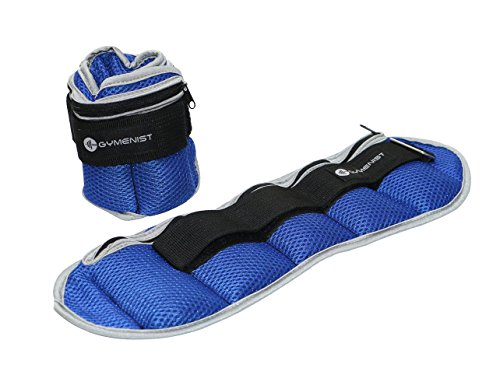 GYMENIST Ankle and Wrist Weights Adjustble Size The Weight Can Also Be Adjusted (4 - LB)