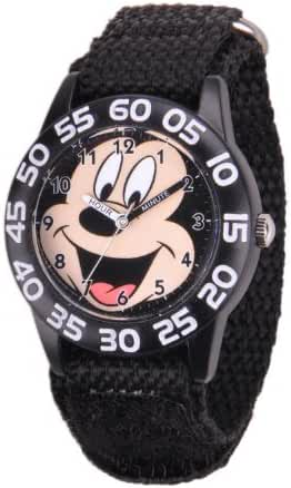 Disney Kids W001212 Mickey Mouse Time Teacher Watch with Black Nylon Strap