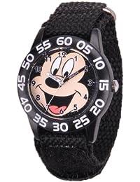 Kids W001212 Mickey Mouse Time Teacher Watch with Black Nylon Strap