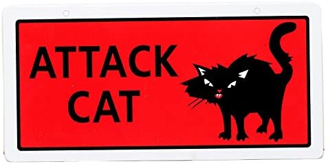 Amazon.com: Hillman 848606 Attack Cat Sign, Red and Black ...