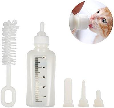 Fdit 50 ml Botella de Mascotas con 3 Pezones y 1 Cepillo de ...
