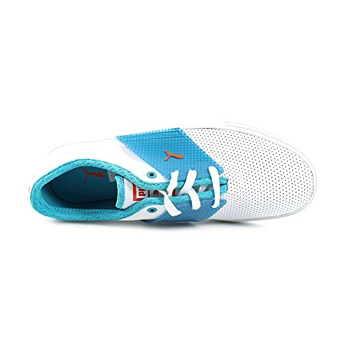 Puma El Ace T Mens 13 356703-03 Bianco / Bluebird / Tigerlily