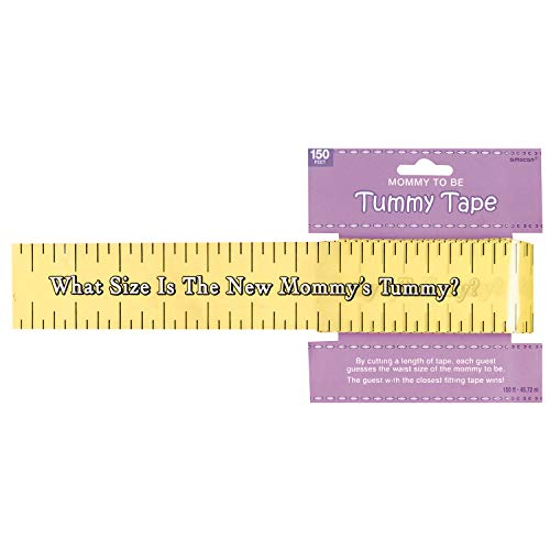 Amscan Games Tummy Measure Baby Shower Game Party Supplies Multicolor 2in x 150ft   1ct  382381