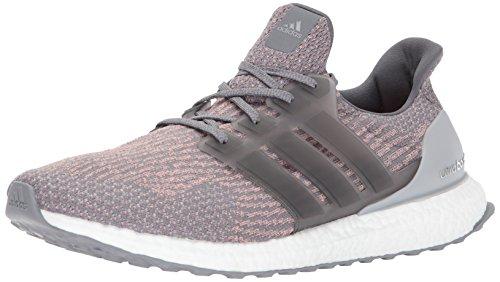Adidas Mens Ultraboost Grigio Quattro / Grigio Quattro / Rosa Traccia