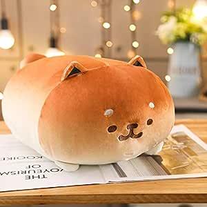 Stuffed Animal Shiba Inu Dog, Soft Adorable Dog plushie, sqeezable, Huggable Cushion, Pillow or Nice Company Whenever You Need (Cinnamon Brown, Medium)