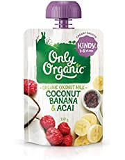 Only Organic Coconut Banana and Acai Kindy 1-5 Years - 100g