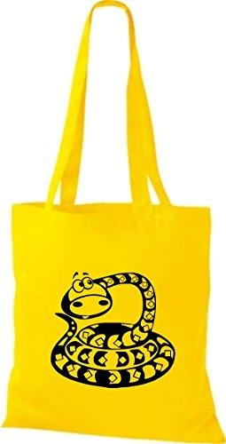 Shirtstown - Bolso de tela de algodón para mujer Amarillo - amarillo
