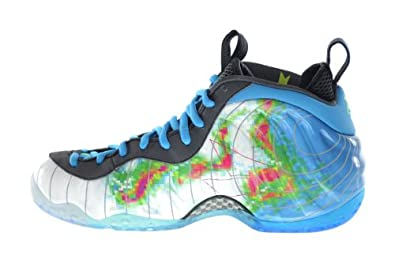 best service f631b 8c978 Amazon.com   Nike Air Foamposite One Premium Weatherman Men s Basketball  Shoes White Current Blue-Flash Lime   Basketball
