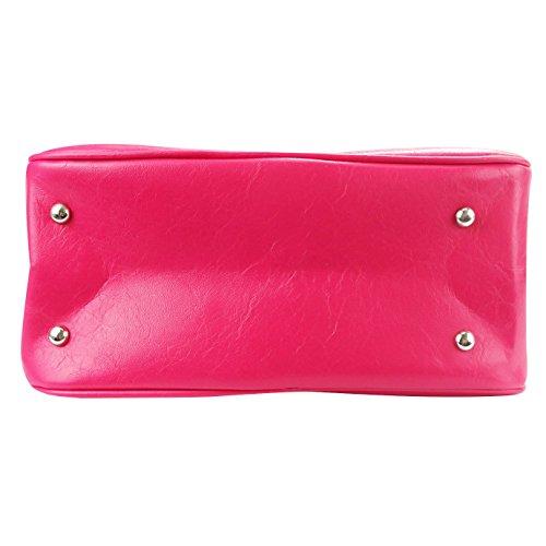Rose noir Main Cuir Faux À Femme Sac Vintage Share Bureau Bagage z6CZvqxf