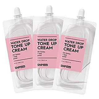 SNP mini - Tone Up Cream - Superior Moisturization & Protection for All Dry Skin Types - Spout Pouch Travel Design - 25ml per Pack - 3 Pack - Best Gift Idea for Mom, Girlfriend, Wife, Her, Women