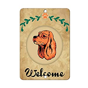 Aluminum Metal Sign Funny Welcome American Cocker Spaniel Dog Informative Novelty Wall Art Vertical 12INx18IN 36