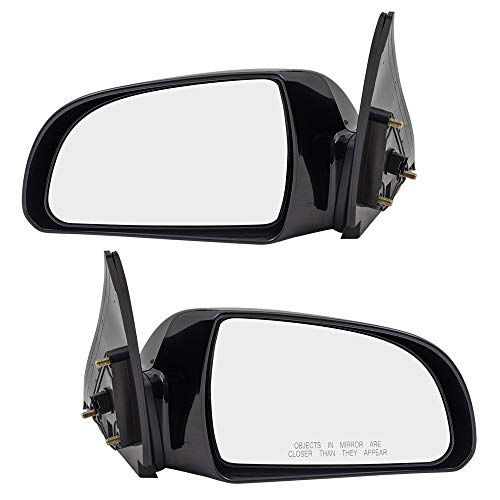 Driver and Passenger Power Side View Mirror Heated Replacement for Hyundai 87610-0A000 87620-0A000 ()