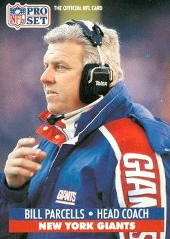 Bill Parcells Football Card (New York Giants) 1991 Pro Set #72