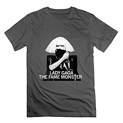 KAILESI lady Gaga The Fame Monster Men's T Shirts DeepHeather