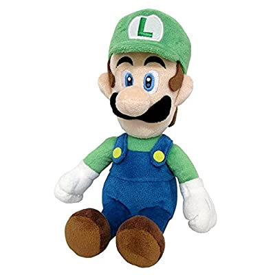 "Little Buddy Super Mario All Star Collection 1415 Luigi Stuffed Plush, 10"": Toys & Games"