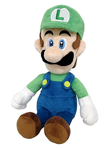 Little Buddy Super Mario All Star Collection 1415 Luigi Stuffed Plush, 10