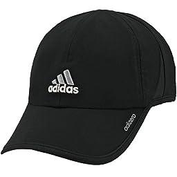 adidas Men\'s Adizero Cap, Black/Aluminum, One Size Fits All
