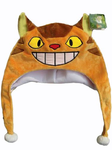 Catbus Costume For Cats (New Totoro Catbus Fleece Aviator Cosplay Hat - Limited Quantity)