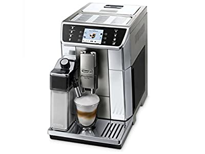 DeLonghi ECAM65055MS PrimaDonna Elitte Exclusive Italy Fully Automatic Espresso Coffee Machine with Auto Cappuccino, Caffelatte, Latte Macchiato, Stainless Steel