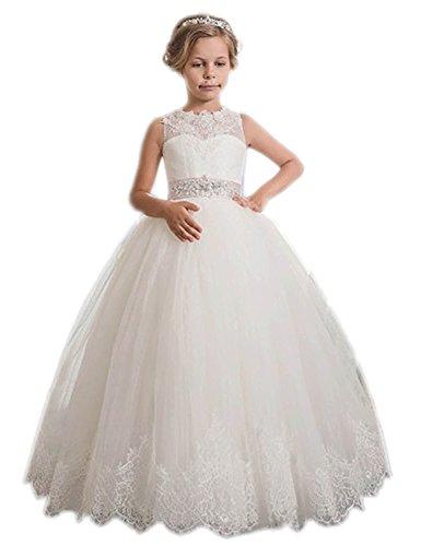 Kauste Lace Flower Girls Dress Girls First Communion Dress Princess Wedding -