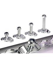 4 stuks 25 mm schroeffitting airlinerail fitting sjorrails eindbeslag airlineschijf