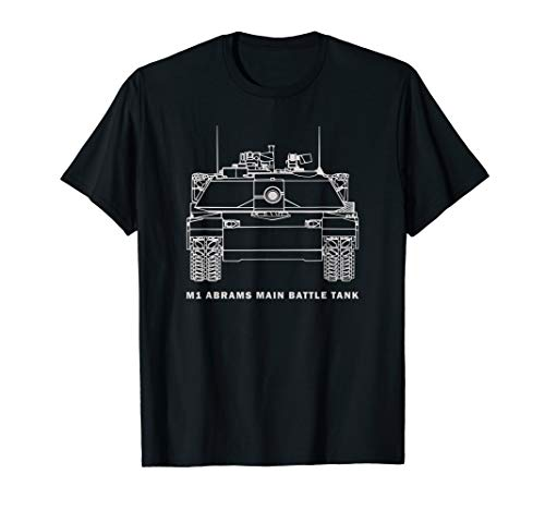 M1 Abrams Tank T-Shirt Gift American Army Tanks Shirts ()
