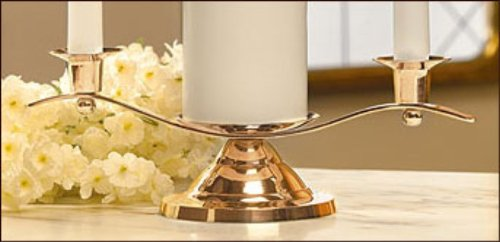 Will & Baumer Unity Candle Holder - Gold by Will & Baumer