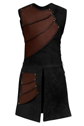 Men's Medieval Sleeveless Warrior Costume King Renaissance Victorian Waistcoats Vests by Sidnor (Image #3)