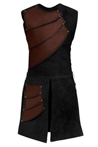 Pingstore Men's Medieval Sleeveless Waistcoats Costume Renaissance Victorian Waistcoats Vests -