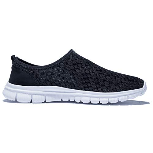 KENSBUY Mens Breathable Durable Sports Running Shoes Lightweight Mesh Walking Sneakers EU41 Black by KENSBUY (Image #4)