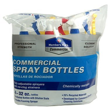 Members Mark hiTHKU Commercial Spray Bottles, 2Pack (32oz 6 Count) by Member's Mark (Image #1)