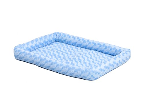 Blue Dog Bed - MidWest Deluxe Bolster Pet Bed for Dogs & Cats