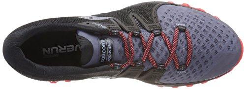 Xodus 2 Mujer 5 Saucony Deporte Vizi Blk Red de Zapatillas para Gris ISO Gry SpxAAfqnw
