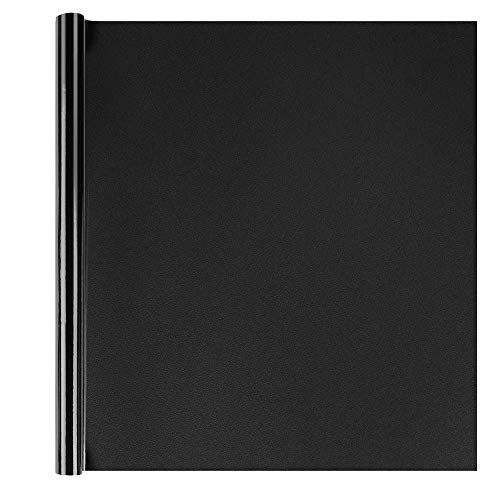 """Homein Blackout Window Film Matte Black Self Adhesive Glass Film Light & UV Blocking Removable Static Cling Window Sticker Opaque Vinyl Frosted Privacy Window Blind 35.4"""" by 78.7"""""""