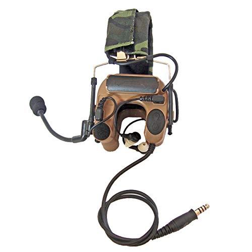 Armorwerx Open-Ear Hybrid Electronic Hearing Protection Earmuffs & Communication Headset (Tan)