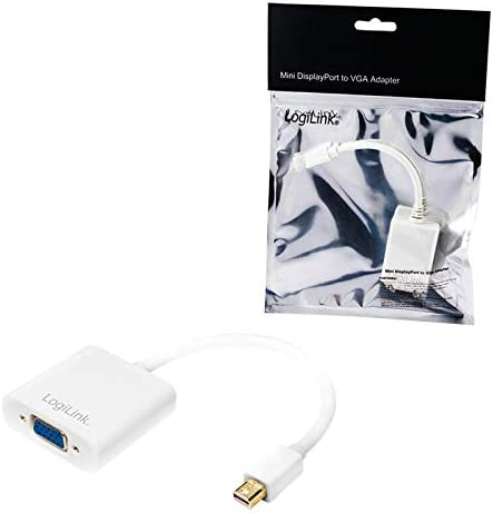 Logilink Mini Displayport Male To Vga Female Converter Computer Zubehör