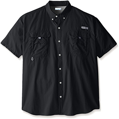 Columbia Men's Bahama II Short Sleeve Shirt, Black, 5X by Columbia