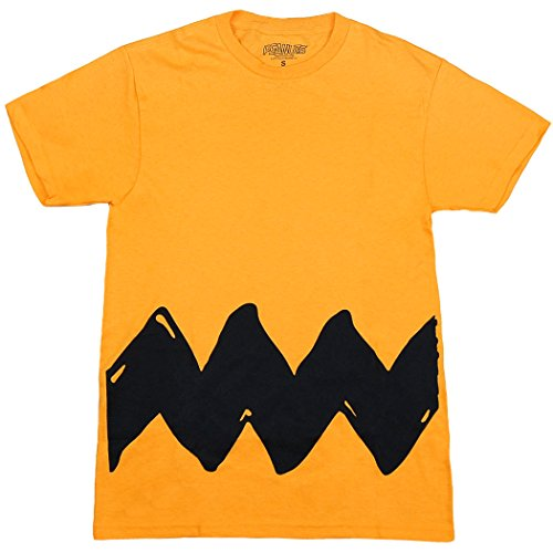 Adult Charlie Brown Costumes (Peanuts Charlie Brown Costume T-Shirt-XX-Large)