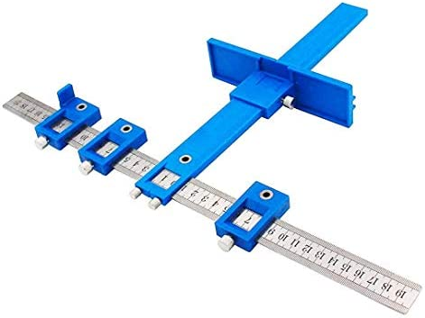 BOFEISI Drill Punch Locator Metric Ruler Quick Cabinet Drilling Jig Stainless Steel Adjustable For Handles And Knobs On Doors And Drawer Fronts Drilling System