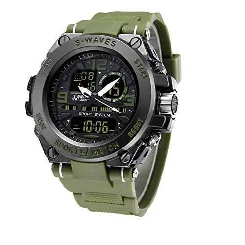 - Men¡¯s Sports Watch Men's Digital Watch Wrist Watch Electronic Quartz Movement Military Watch LED Backlight Watches for Men