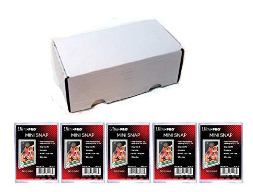 Ultra Pro Mini Snap Card Holder #81136 x5 + 400 Count Storage Box