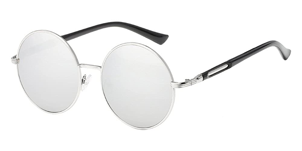 BOZEVON Retro Style Circle Sunglasses Round Lens for Women