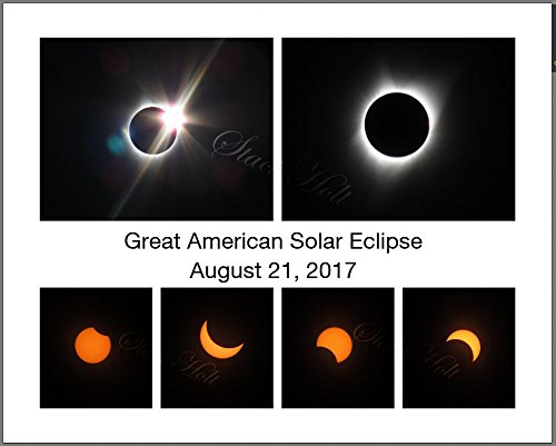 Original Photo Collage Art Print Total Solar Eclipse August 21 2017 Corvallis Oregon Totality (8 x 10)