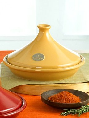 Emile Henry Flame Top Tagine 12 1/2 Inch,Yellow