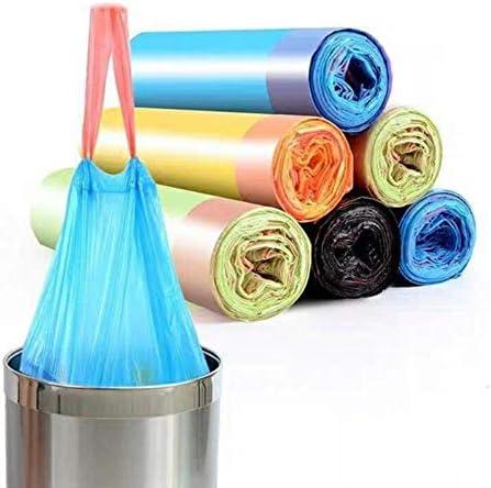 キッチンのゴミ箱バッグ付きキッチンホームオフィスバスルームクリーニングツールに使用される文字列、非毒性無臭も害厚み付けのゴミ袋を、描きます (Color : Blue, Size : 14Roll)