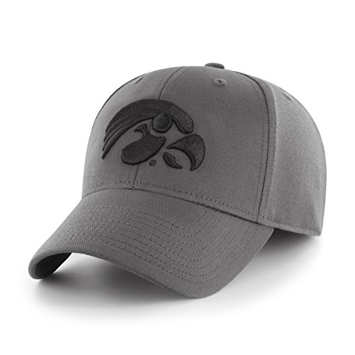 Iowa Hawkeye Gear (NCAA Iowa Hawkeyes Comer OTS Center Stretch Fit Hat, Charcoal, Large/X-Large)