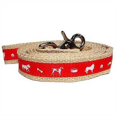 Vintage Jute Dog Leash Color: Blue, Size: Small